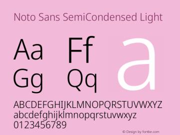 Noto Sans SemiCondensed Light Version 2.004图片样张