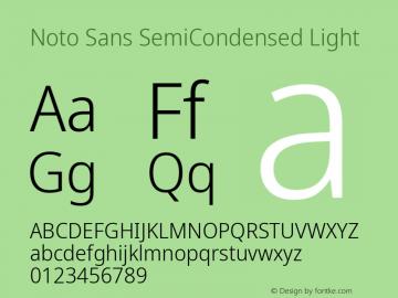 Noto Sans SemiCondensed Light Version 2.004; ttfautohint (v1.8.3) -l 8 -r 50 -G 200 -x 14 -D latn -f none -a qsq -X