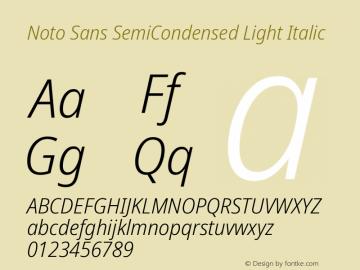 Noto Sans SemiCondensed Light Italic Version 2.004; ttfautohint (v1.8.3) -l 8 -r 50 -G 200 -x 14 -D latn -f none -a qsq -X