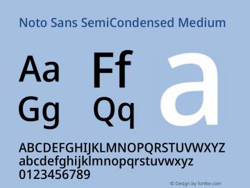 Noto Sans SemiCondensed Medium Version 2.004图片样张