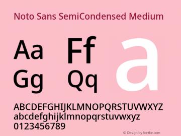 Noto Sans SemiCondensed Medium Version 2.004; ttfautohint (v1.8.3) -l 8 -r 50 -G 200 -x 14 -D latn -f none -a qsq -X