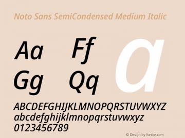 Noto Sans SemiCondensed Medium Italic Version 2.004图片样张