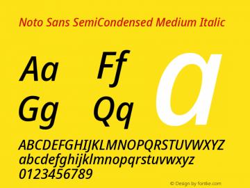 Noto Sans SemiCondensed Medium Italic Version 2.004; ttfautohint (v1.8.3) -l 8 -r 50 -G 200 -x 14 -D latn -f none -a qsq -X