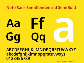 Noto Sans SemiCondensed SemiBold Version 2.004图片样张