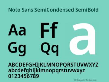 Noto Sans SemiCondensed SemiBold Version 2.004; ttfautohint (v1.8.3) -l 8 -r 50 -G 200 -x 14 -D latn -f none -a qsq -X