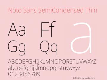 Noto Sans SemiCondensed Thin Version 2.004图片样张