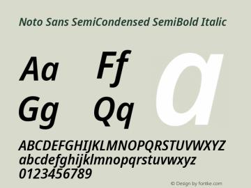 Noto Sans SemiCondensed SemiBold Italic Version 2.004; ttfautohint (v1.8.3) -l 8 -r 50 -G 200 -x 14 -D latn -f none -a qsq -X