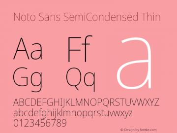 Noto Sans SemiCondensed Thin Version 2.004; ttfautohint (v1.8.3) -l 8 -r 50 -G 200 -x 14 -D latn -f none -a qsq -X