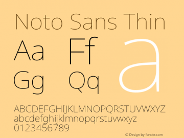Noto Sans Thin Version 2.004图片样张
