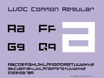 LVDC Common Regular Macromedia Fontographer 4.1J 02.9.11 Font Sample