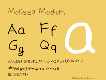 Melissa Medium Version 2 Font Sample
