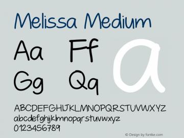 Melissa Medium Version 001.000 Font Sample