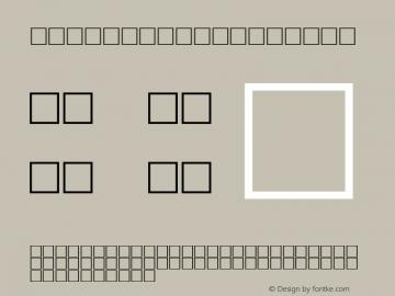 MD_Kufi_14 Regular Glyph Systems 10-jun-93 Font Sample