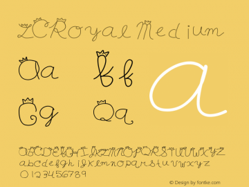 LCRoyal Medium Version 001.000 Font Sample
