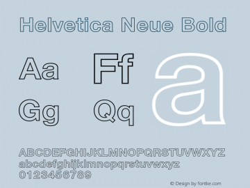 Helvetica Neue Bold 001.000 Font Sample