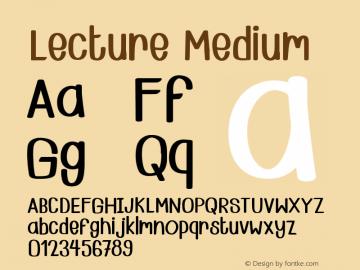 Lecture Version 001.000 Font Sample