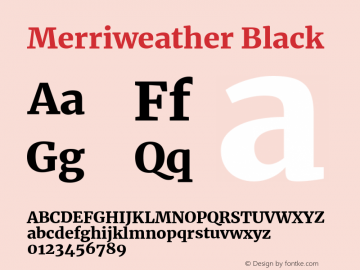 Merriweather Black Version 2.002;PS 002.002;hotconv 1.0.88;makeotf.lib2.5.64775 Font Sample