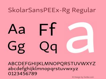 SkolarSansPEEx-Rg Version 2.004;PS 2.003;hotconv 1.0.88;makeotf.lib2.5.647800; ttfautohint (v1.5);com.myfonts.easy.rosetta.skolar-sans-pe.extended.wfkit2.version.4FtL图片样张