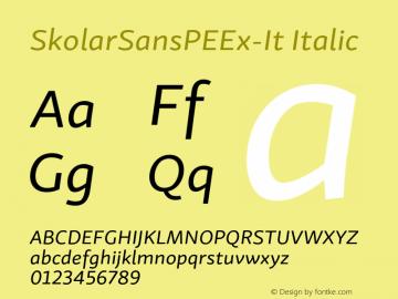 SkolarSansPEEx-It Version 2.004;PS 2.003;hotconv 1.0.88;makeotf.lib2.5.647800; ttfautohint (v1.5);com.myfonts.easy.rosetta.skolar-sans-pe.extended-italic.wfkit2.version.4FtA图片样张