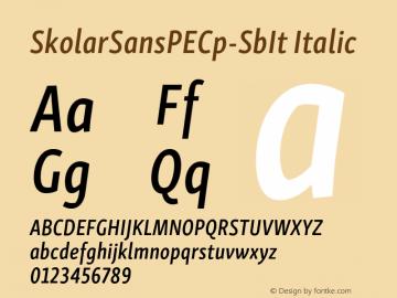 SkolarSansPECp-SbIt Version 2.004;PS 2.003;hotconv 1.0.88;makeotf.lib2.5.647800; ttfautohint (v1.5);com.myfonts.easy.rosetta.skolar-sans-pe.compressed-semibold-italic.wfkit2.version.4Fv5图片样张