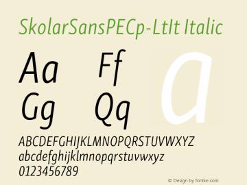SkolarSansPECp-LtIt Version 2.004;PS 2.003;hotconv 1.0.88;makeotf.lib2.5.647800; ttfautohint (v1.5);com.myfonts.easy.rosetta.skolar-sans-pe.compressed-light-italic.wfkit2.version.4FuU图片样张
