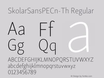 SkolarSansPECn-Th Version 2.004;PS 2.003;hotconv 1.0.88;makeotf.lib2.5.647800; ttfautohint (v1.5);com.myfonts.easy.rosetta.skolar-sans-pe.condensed-thin.wfkit2.version.4Fuu图片样张