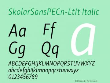 SkolarSansPECn-LtIt Version 2.004;PS 2.003;hotconv 1.0.88;makeotf.lib2.5.647800; ttfautohint (v1.5);com.myfonts.easy.rosetta.skolar-sans-pe.condensed-light-italic.wfkit2.version.4Fuh图片样张