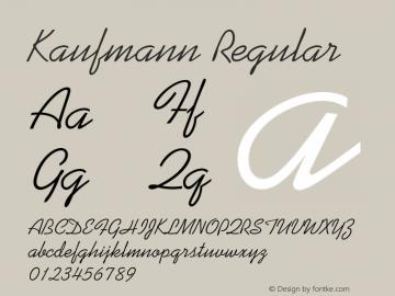 Kaufmann Regular 1.0 Font Sample
