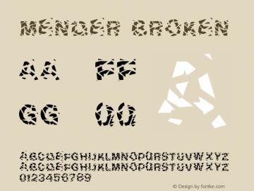 Mender Broken Version 1.001;Fontself Maker 3.5.1图片样张