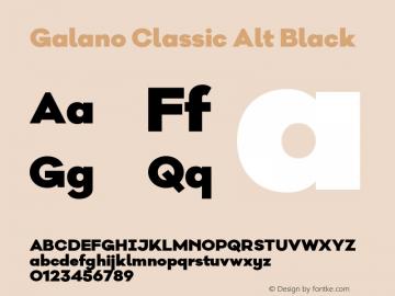 Galano Classic Alt Black Version 1.000;PS 001.000;hotconv 1.0.70;makeotf.lib2.5.58329图片样张