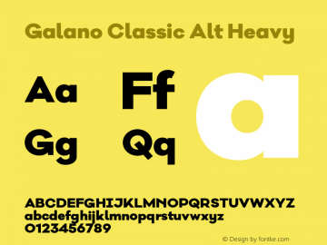 Galano Classic Alt Heavy Version 1.000;PS 001.000;hotconv 1.0.70;makeotf.lib2.5.58329图片样张