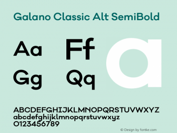 Galano Classic Alt SemiBold Version 1.000;PS 001.000;hotconv 1.0.70;makeotf.lib2.5.58329图片样张