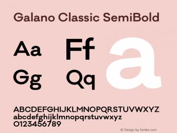 Galano Classic SemiBold Version 1.000;PS 001.000;hotconv 1.0.70;makeotf.lib2.5.58329图片样张
