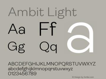 Ambit Light Version 1.020;hotconv 1.0.109;makeotfexe 2.5.65596图片样张