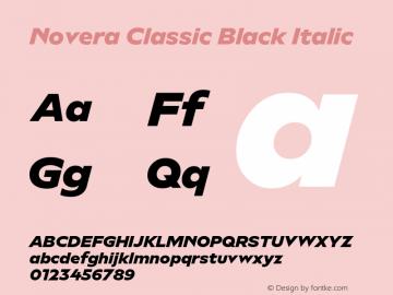 Novera-ClassicBlackItalic Version 1.000;PS 001.000;hotconv 1.0.88;makeotf.lib2.5.64775图片样张