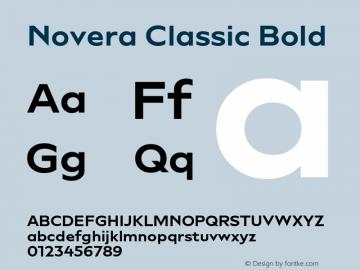 Novera-ClassicBold Version 1.000;PS 001.000;hotconv 1.0.88;makeotf.lib2.5.64775图片样张