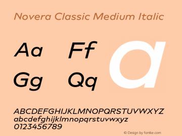 Novera-ClassicMediumItalic Version 1.000;PS 001.000;hotconv 1.0.88;makeotf.lib2.5.64775图片样张