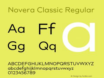 Novera-ClassicRegular Version 1.000;PS 001.000;hotconv 1.0.88;makeotf.lib2.5.64775图片样张