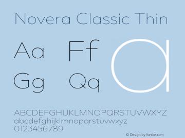Novera-ClassicThin Version 1.000;PS 001.000;hotconv 1.0.88;makeotf.lib2.5.64775图片样张