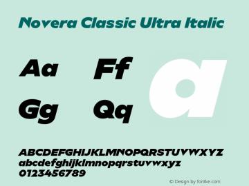 Novera-ClassicUltraItalic Version 1.000;PS 001.000;hotconv 1.0.88;makeotf.lib2.5.64775图片样张