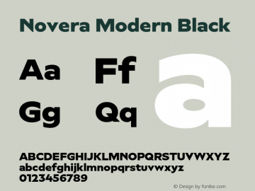 Novera-ModernBlack Version 1.000;PS 001.000;hotconv 1.0.88;makeotf.lib2.5.64775图片样张