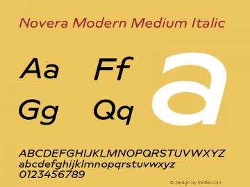 Novera-ModernMediumItalic Version 1.000;PS 001.000;hotconv 1.0.88;makeotf.lib2.5.64775图片样张