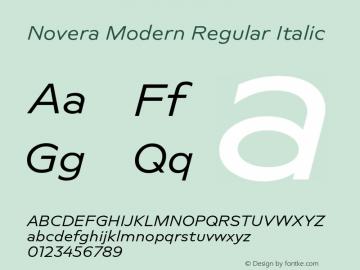 Novera-ModernRegularItalic Version 1.000;PS 001.000;hotconv 1.0.88;makeotf.lib2.5.64775图片样张
