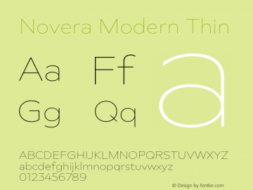 Novera-ModernThin Version 1.000;PS 001.000;hotconv 1.0.88;makeotf.lib2.5.64775图片样张