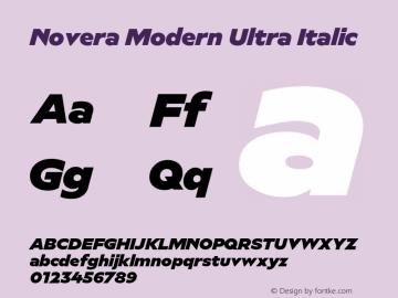 Novera-ModernUltraItalic Version 1.000;PS 001.000;hotconv 1.0.88;makeotf.lib2.5.64775图片样张