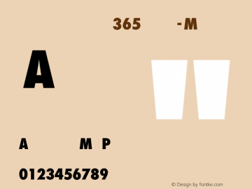 Futura ND for Nike 365 Cn XBd Monospaced Numerals Futura ND Cn ExtraBold for Nike 365, version 2.00图片样张