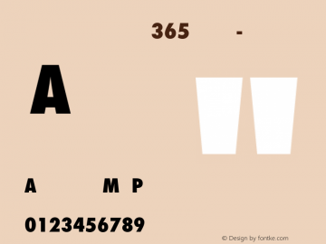 Futura ND for Nike 365 Cn XBd Timer Numerals Futura ND Cn ExtraBold for Nike 365, version 3.00图片样张