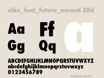 nike_font_futura_normal XBd Version 1.042图片样张