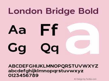 LondonBridge-Bold Version 1.000图片样张
