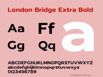 LondonBridge-ExtraBold Version 1.000图片样张